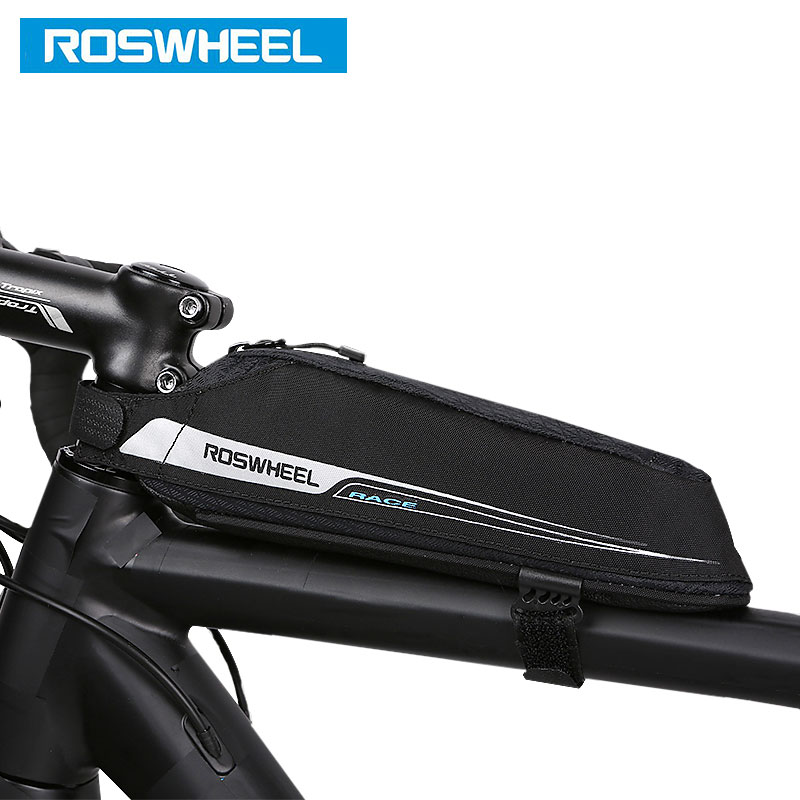 ROSWHEEL Bicycle Top Frame Bag Slim Storage Pouch Saddle Bags Cycling MTB Road BikeTube Pannier Bycicle Bolsa 121343