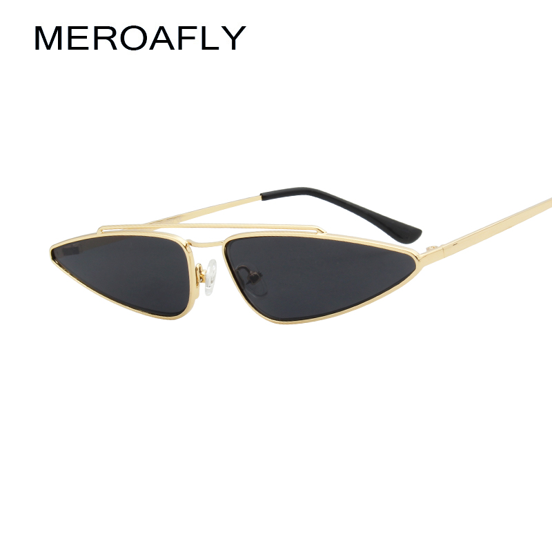 MEROAFLY Sexy Ladies Cat Eye Sunglasses Women Small Frame 2018 Triangle Vintage Gradient Sun Glasses For Female UV400 Eyewear