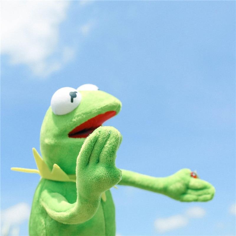 Hot Sale 40cm Funny Kermit Plush Toys Sesame Street Frogs Doll Stuffed Animal Kermit Toy Kids Birthday Gift Party Prank Toys