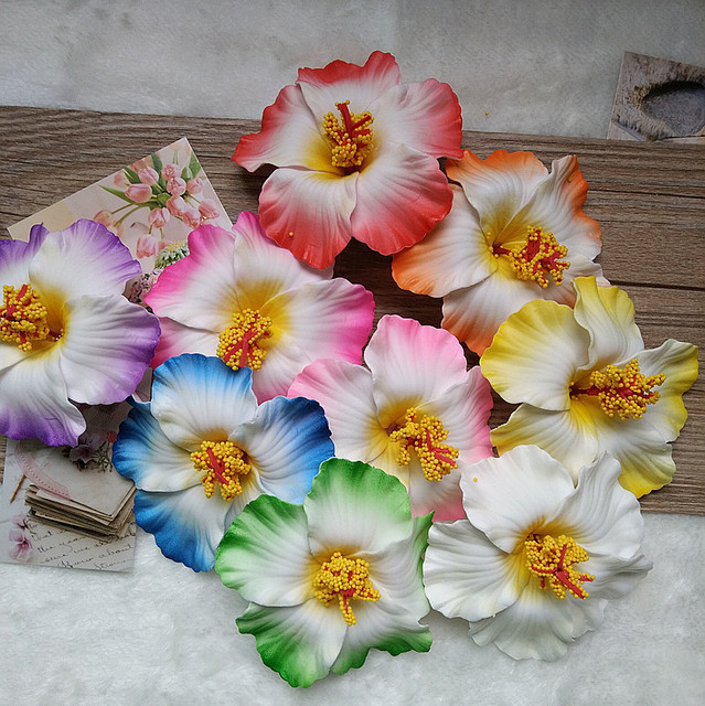 1pcs Free Shipping Hair Accessories Hawaiian Plumeria Hairpin Side