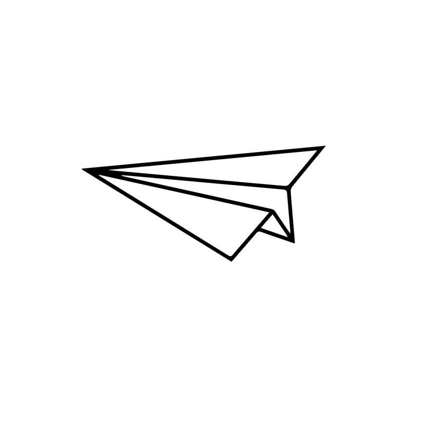 Paper Airplane Home Decor Car Truck Window Decal Sticker Cute And