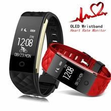 Yourtribe S2 Смарт Браслет сердечного ритма шагомер сна Фитнес трекер Bluetooth 4.0 IP67 Водонепроницаемый SmartBand