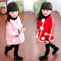 Autumn winter baby girl coats rabbit baby soft fleece cloak Toddler clothes for girls cape for outerwear baby clothing  L2262
