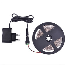 Taśma LED Light 5m 60 leds/m pojedynczy kolor 3528SMD elastyczna taśma LED 12V zasilacz 2A, ciepły biały, biały, czerwony, niebieski, zielony, żółty