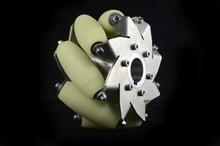 6 дюймов тяжелых mecanum колеса с 8 импортного материала ПУ ролик 14167