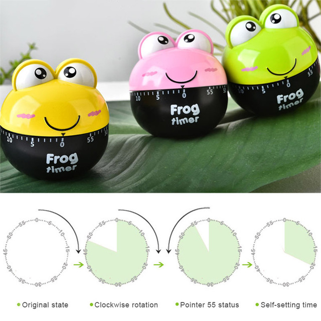 Lovely 55 Minute Animal Timer Easy Operate Kitchen Useful Co Ng Cute Frog Shape For Kitchen Timer Tb Sale