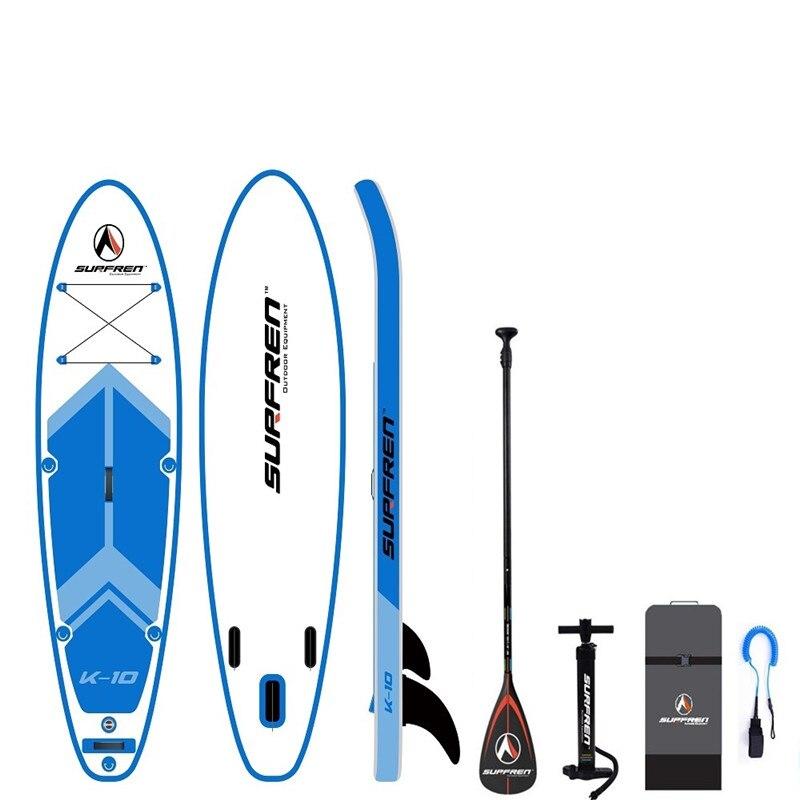 Surf gonflable Debout planche à pagaie l'isup SurfingPaddle conseil SURFREN Tous RoundK-10 wakeboard kayakboat size305 * 81*15 cm