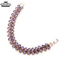 DELIEY Fashion Luxury AAA Cubic Zircon Water Drop Charm Bracelet for Women or Girls Elegant Party Jewelry Free Shipping