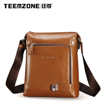 Teemzone Crossbody Bag Men's Messenger Bag Brand Handbag Casual Men Shoulder Bags Genuine Leather Briefcase Free Shipping