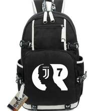 3f5a40042a9 NEW Juventus Football star Real Cristiano Ronaldo CR7 schoolbag Men's  Women's Canvas Backpack Teenage Girl Backpacks