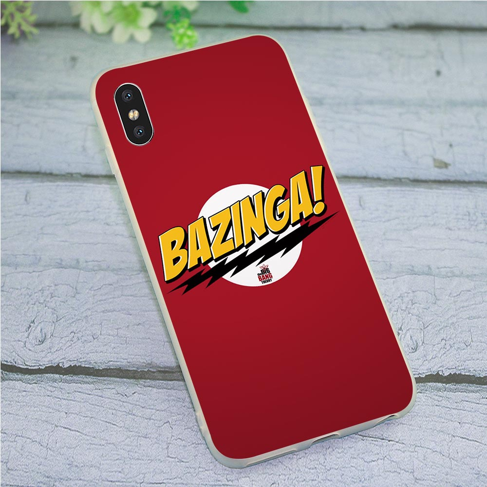 Soft TPU Silicone <font><b>Case</b></font> for iPhone 7 The <font><b>Big</b></font> <font><b>Bang</b></font> Theory Sheldon <font><b>Phone</b></font> Cover for iPhone 7 Plus 8 X Xs Max XR 5 5s se 6 6s Back image