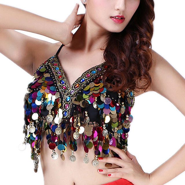 32e76731d235f Sexy Mermaid Crop Top Body Chain Sequin Brilliant Bralet Beach Cropped  Festival Tank Tops Sleeveless Camisole