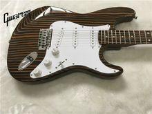 Electric guitar/Gwarem luck star tele guitar/zebrawood body/guitar in china