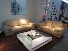 Vaca genuino / real sofás de cuero salón sofá seccional / sofá de la esquina de muebles para el hogar sofá moderno big tamaño 2 + 3 plazas