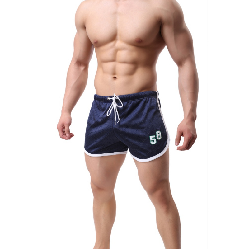 Number Print Jogger Sporting Men's Shorts Slimming Black Bodybuilding Shorts Men Male Fitness Gyms Shorts For Workout Plus Size