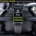 For Dodge Caravan (no armrest box model) Car Floor Mats Customized Foot Rugs Custom Carpets Car Styling