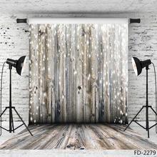 Glitters  Wooden Floor Photographic Backgrounds Vinyl Backdrops Photo Studio for Children Baby Shower Portrait Photobooth Decor
