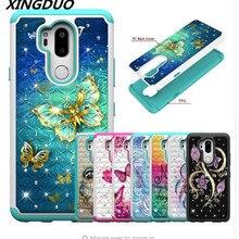 XINGDUO High quality 2-in-1 TPU+PC cover Fashion Glitter diamond flash phone cases For LG G7 ThinQ Stylo 4 X Power2 LG K10 2018 стоимость