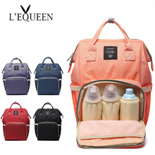 Baby Bag Fashion Mommy Diaper Bag Backpack Mother Changing Bag Maternity Baby Care Stroller High Capacity Nappy Bag Lequeen