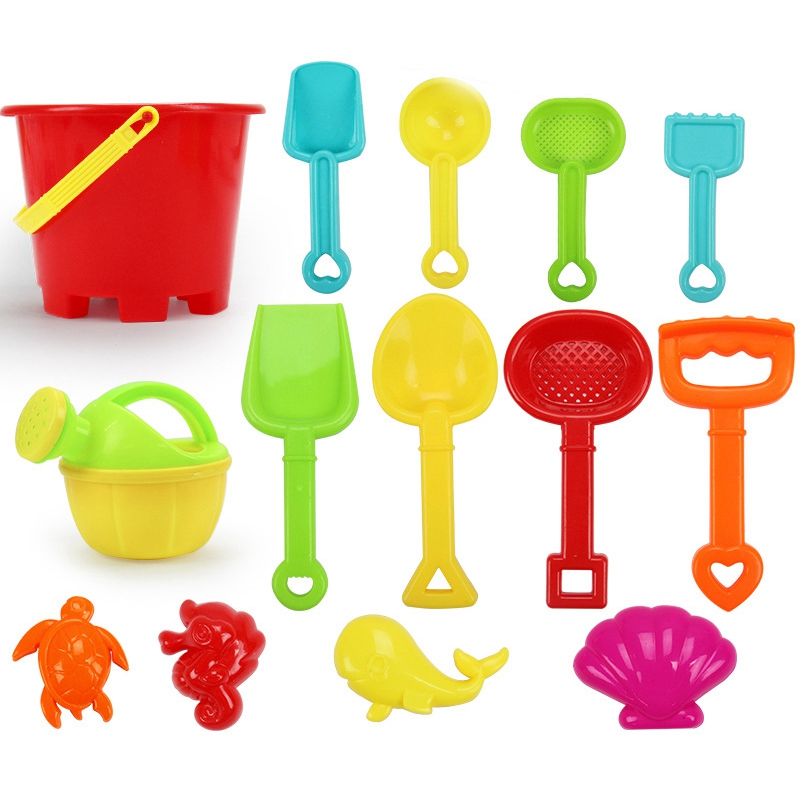 FBIL-14 Sets Children's Beach Toy Car Suit Baby Play With Sand Dug Tool