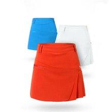Xs-xl короткое pgm гольфа твердые леди юбка отдых гольф женский марка