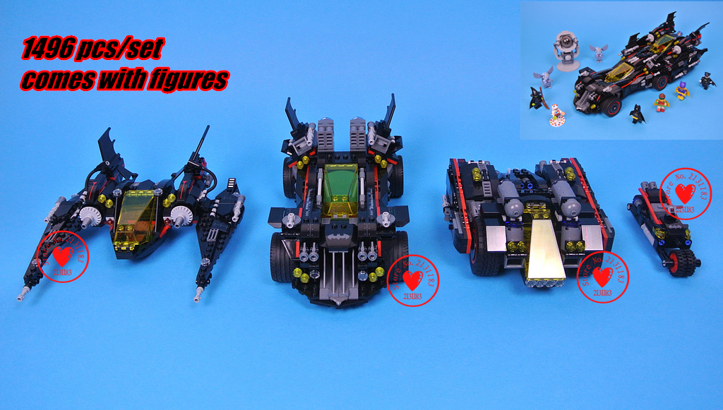 07077 lepin Genuine Batman Movie Series The Ultimate Batmobile 70917 Set Educational diy Model Building Blocks Bricks Toys gift