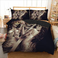 Skull Sexy Angel Bedding Set Twin Full Queen King Single Double Super King Size Cool Duvet Cover Pillow Cases 3D Bed Linen Set