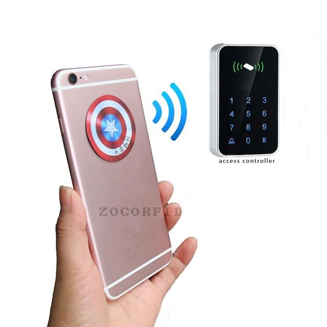 (10 sztuk/partia) RFID 125KHz T5577 wielokrotnego zapisu monety karty Tag do kopiowania okrągły kształt naklejki wykorzystanie do telefonu komórkowego