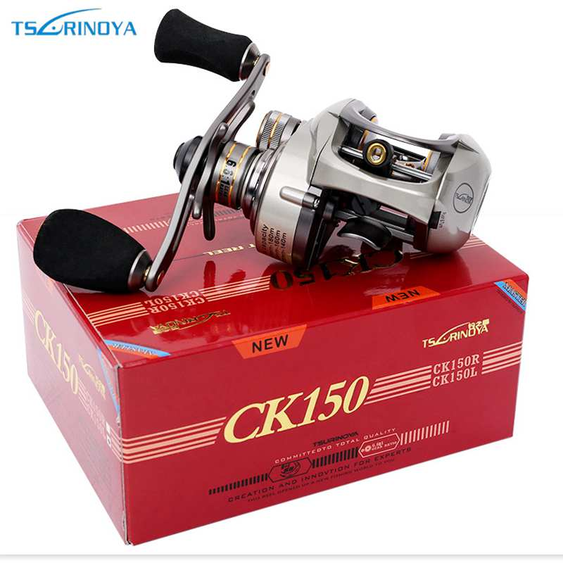 TSURINOYA CK150R/L Bait casting Fishing Reel Gear Ratio 6.6:1 9+1BB Magnet+Centrifugal Dual Brakes System Max Drag 6KG abu garcia revo3 sx hs hs l 10bb 7 1 1 bait casting reel super smooth low profile water drop wheel left right hand max drag 9kg