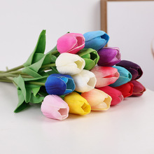 8 x 10pcs Artificial Tulips Bouquet Silk Fake Flowers Wedding PU For Home Decoration Real Touch Latex Mini