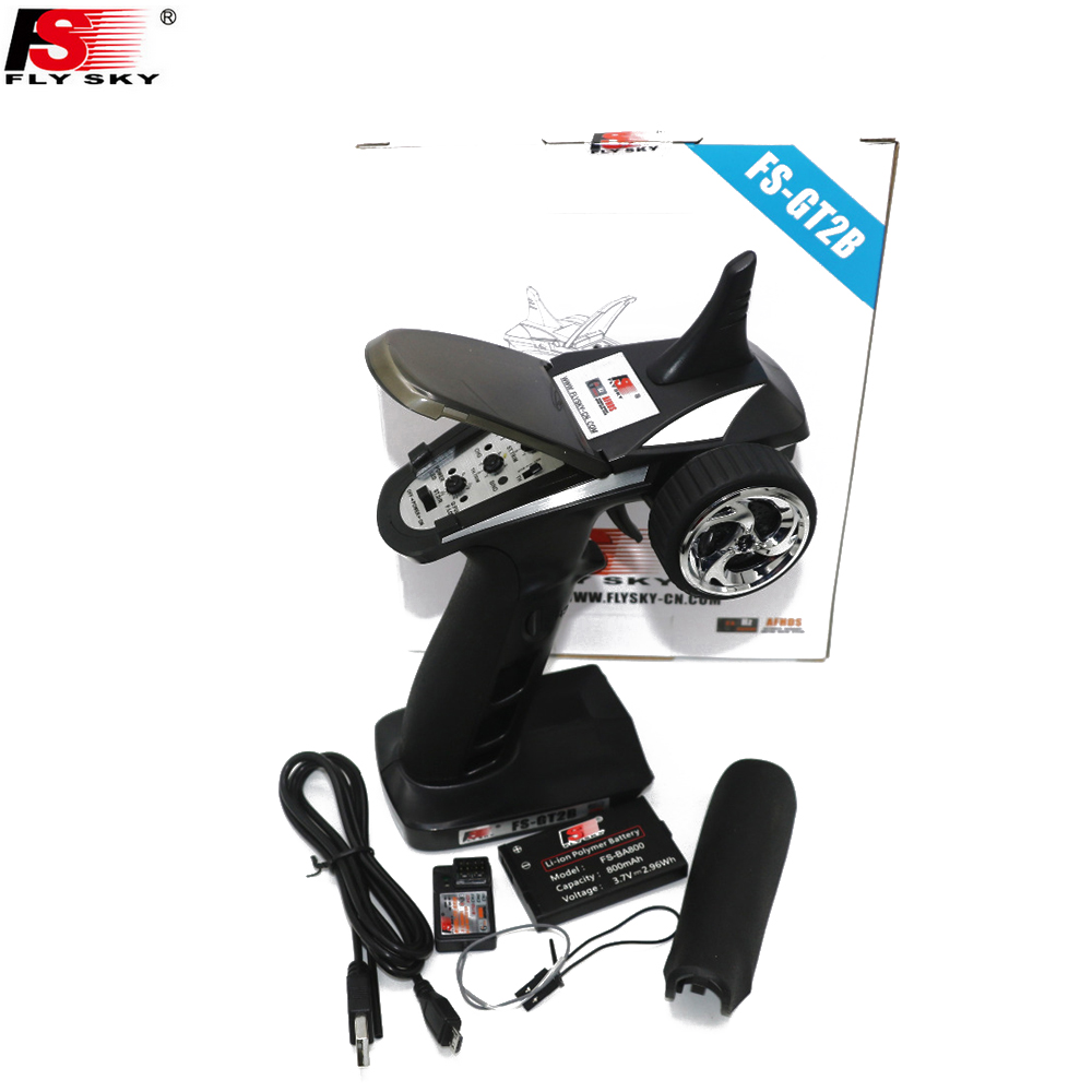 1pcs Flysky FS-GT2B 2.4G 3CH Gun RC Transmitter & GR3E Receiver W/ TX Battery+USB Charger Cable For Helicopter Boat