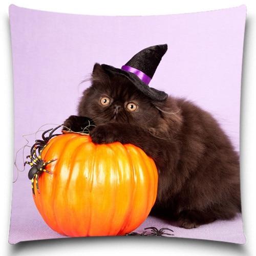 Calabazas de Halloween y gatos negros Funda de almohada Fundas de - Textiles para el hogar