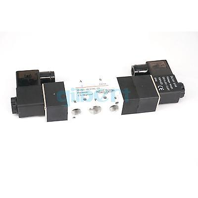 4V330E-10 Pneumatic Solenoid Valve 3 position 5way BSPT3/8 Central Exhaust 5 way pilot solenoid valve sy3220 4g 02