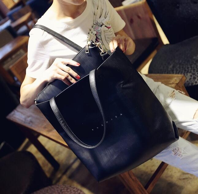 2016 new fashion early autumn picture package Fashion large capacity shoulder bag Quality PU leather Women bag Portable big bag