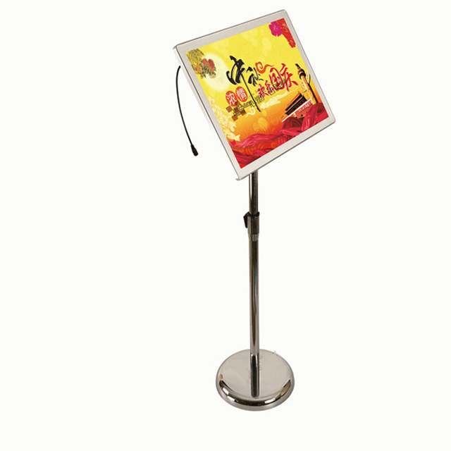 A3 Adjustable Floorstanding Stainless Steel Pole With Ailluminated