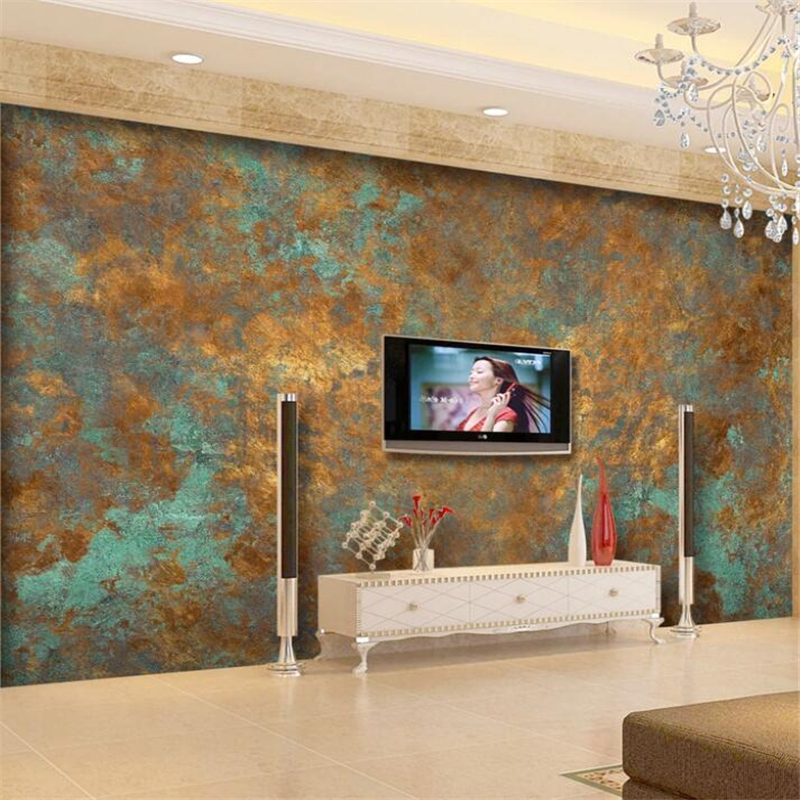 Wellyu  Papel De Parede 3d  Custom Wallpaper  European Luxury Retro Rust Rust TV Background Wall Painting  Wall Mural Tapety