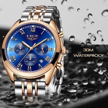 0804bb0ba Mens Watches LIGE Top Brand Luxury Men Waterproof Quartz Watch Men s  Fashion Business Watches Relogio Masculino