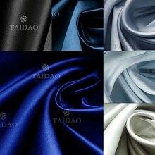 150x100 см атласная толстая пряжа ткань для штор костюм сатиновая Однотонная синяя одежда сатин высокая плотность износостойкий 280 г/м