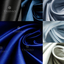 150x100cm Satin thick yarn fabric curtain costume satins solid color blue clothes satin high density wear-resistant 280g/m
