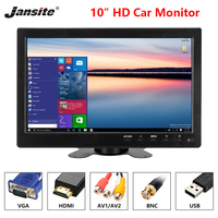 Jansite car screen 10 inch car monitor 1920*1080 TFT LED screen car display PAL/NTSC Image Flip Multipurpose reverse image HDMI