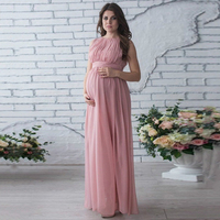 Maternity Dress Photo Shoot Maternity Gown Bow Belt Maternity Chiffon Gown Sexy Maternity Photography Props New