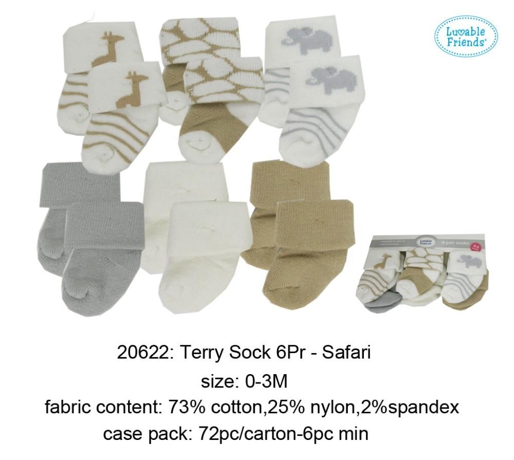 Носки для новорожденных; детские носки «I Love baby»; 8 шт. в упаковке