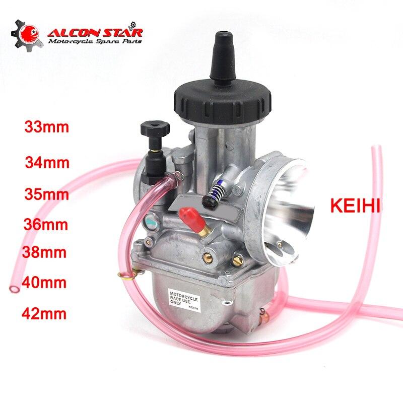 Alconstar Keihi PWK 33 34 35 36 38 40 42mm carburateur de course de Moto avec Jet de puissance pour vtt Buggy Quad Kart 600cc Moto
