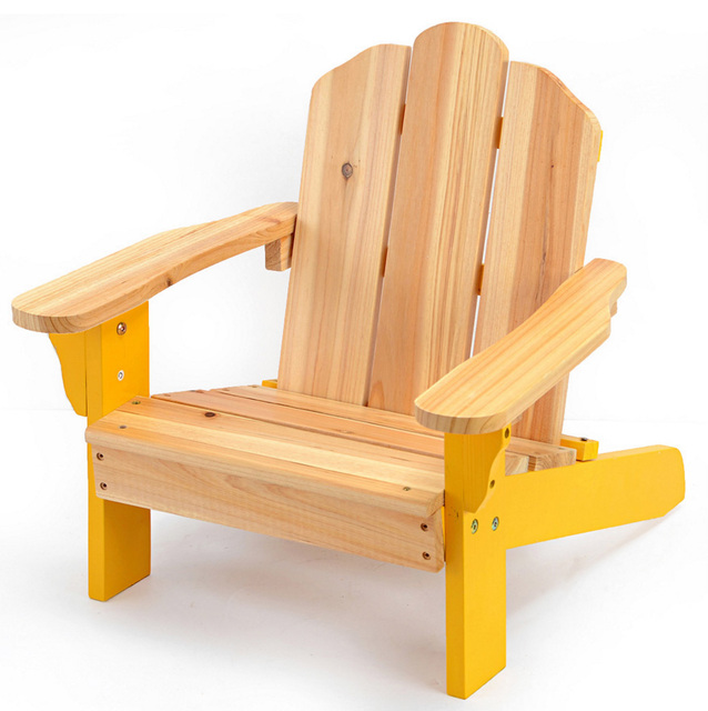 Kids Patio Furniture.Us 69 0 Child Adirondack Chair Kids Outdoor Wood Patio Furniture For Backyard Lawn Deck Or Indoor Use Modern Children Furniture Chair In Children