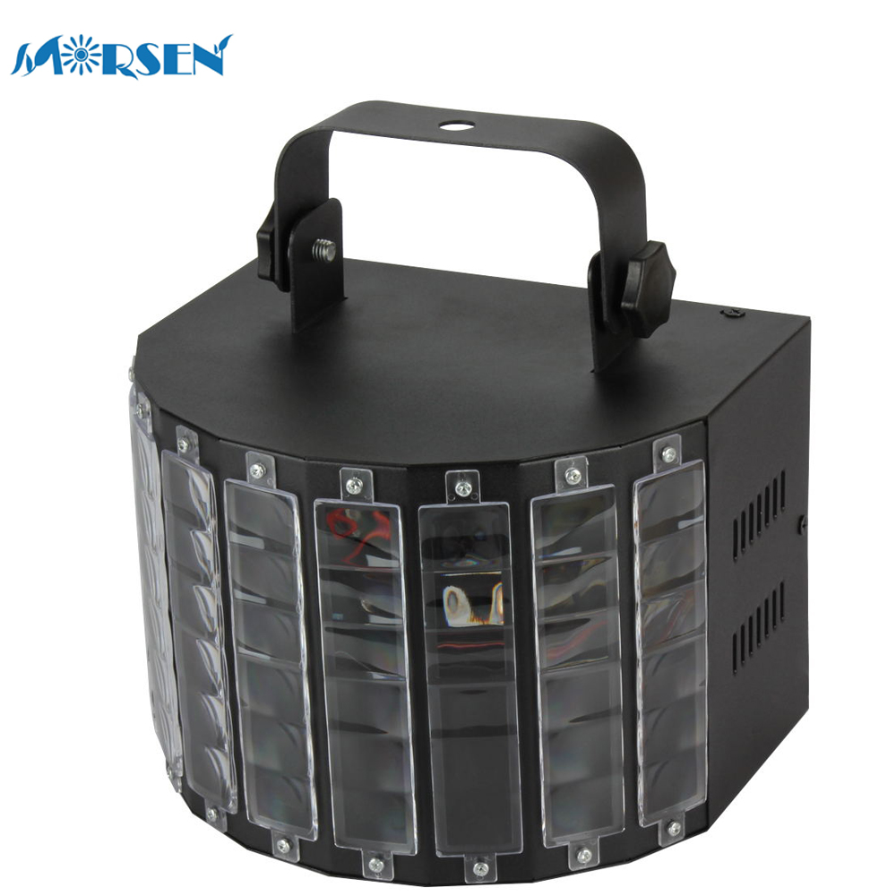 1pcs New Design Stage Lights DMX Sound Music Activated 30W RGB LED 9 Color Butterfly Strobe Light for DJ Disco Party Show*15#15 автоинструменты new design autocom cdp 2014 2 3in1 led ds150