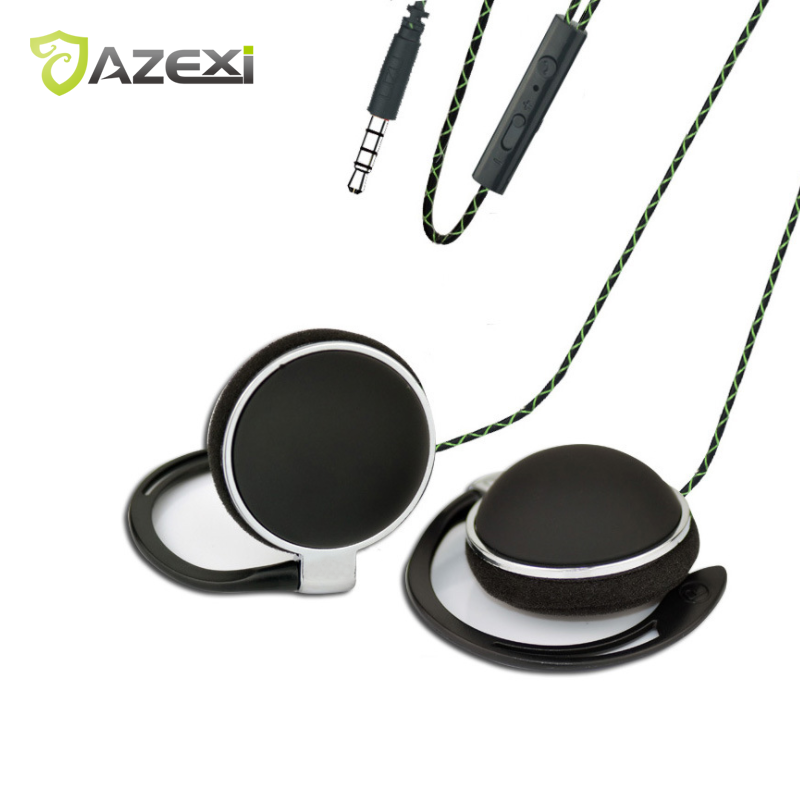 Fashion Colorful Ear-hook Headphone TY906 MIC Tuning Earphones 3.5mm Sports Wired Earphone General for Adults and children iPhon