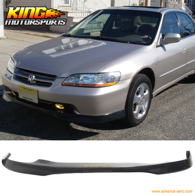 For 1998 2002 Honda Accord Sedan 4Dr Front Bumper Lip PU Add On T R