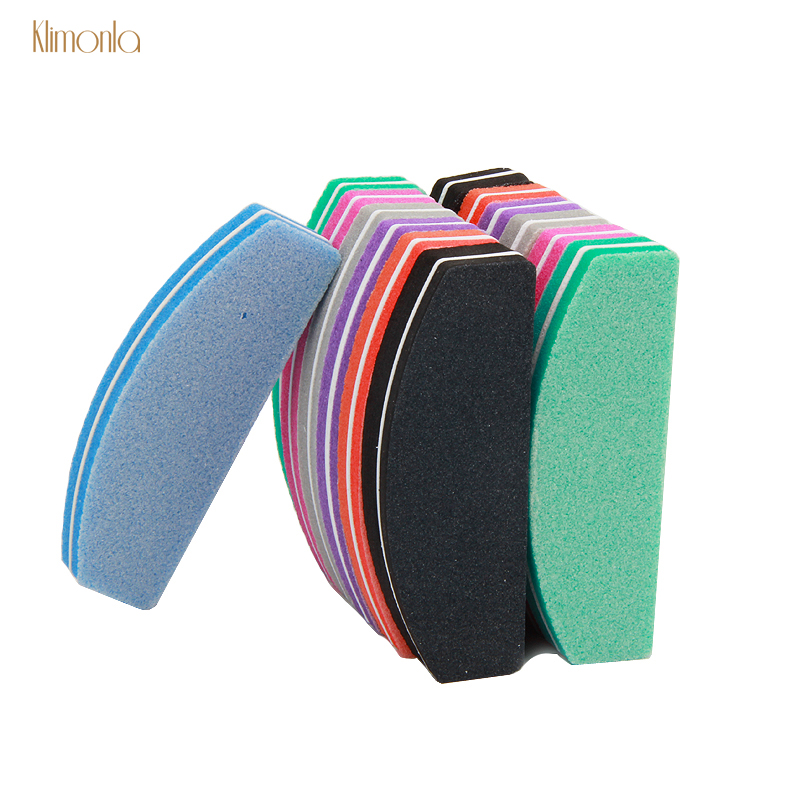 7pcs Nail File Blocks Sanding Polish Buffers For Manicure Pedicure Care 100/180 Nail Salon Tools 7 Colors Sponge Boat Nail Files