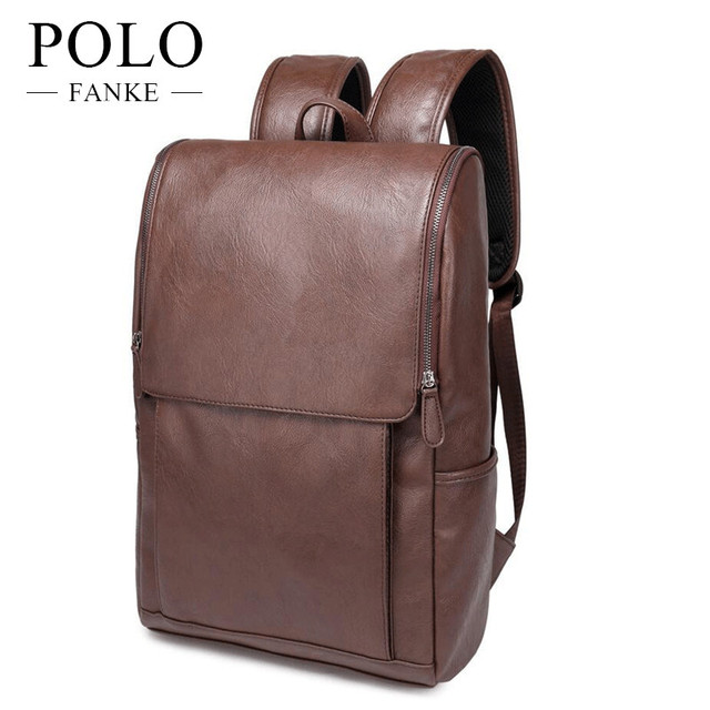 Quality Men S Leather Backpack High School Bags For Agers Male Black Brown Color Fashion Travel Backpacks