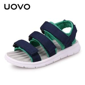 Image 2 - UOVO 2020 Summer Kids Sandals Boys And Girls Slides Children Summer Beach Sandals New Arrive Little Kids Shoes Eur Size #25 37